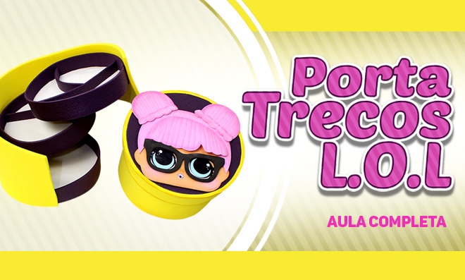 Porta-treco de EVA com 3 compartimentos - LOL Surprise Teacher's Pet