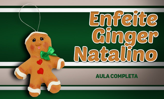 Enfeite natalino: Gingerbread feito com massa de EVA