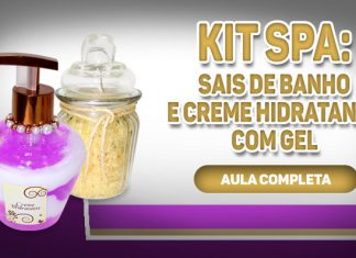 Kit spa personalizado: Sais de banho aromaterápicos e creme hidratante com gel - Destaque