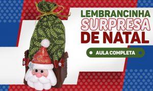 Lembrancinha natalina em biscuit - Surpresa do Papai Noel - Destaque
