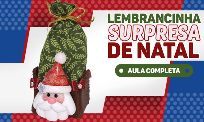 Lembrancinha natalina em biscuit – Surpresa do Papai Noel