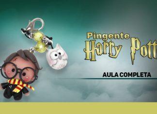 Pingente de biscuit para pulseira, colar, brinco e chaveiro - Tema Harry Potter - Destaque