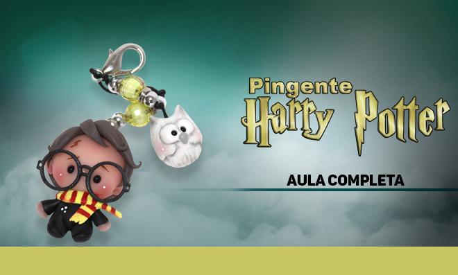 Pingente de biscuit para pulseira, colar, brinco e chaveiro - Tema Harry Potter