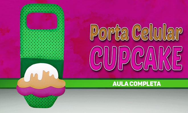 Porta carregador de celular em EVA – Tema Cupcake