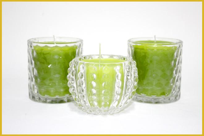 2 tipos de velas decorativas: Vela ecológica e vela em gel - Ilustração da vela ecológica
