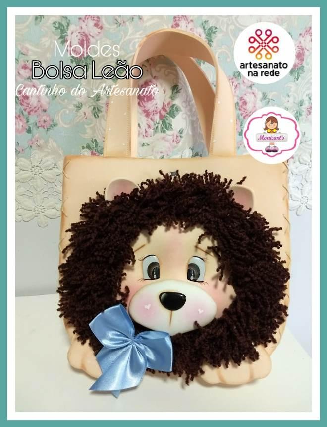 Bolsa em EVA com rosto de leão - Capa do molde