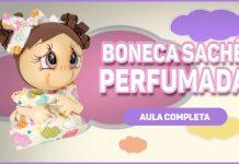 Boneca perfumada com sachê feita em EVA e isopor - Destaque