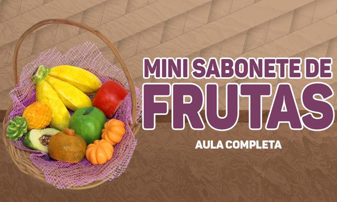 Mini sabonetes de frutas feitos artesanalmente