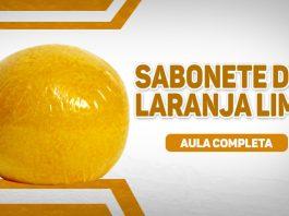 Sabonete de laranja lima com pintura perfeita