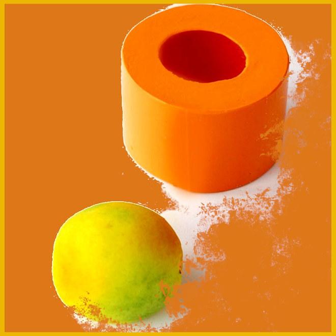 Sabonete de laranja lima com pintura perfeita - Ilustração do molde da laranja
