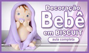 Bebê em biscuit para decoração - Feito sem balança - Destaque