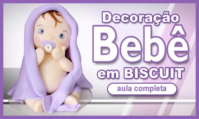Bebê em biscuit para decoração - Feito sem balança