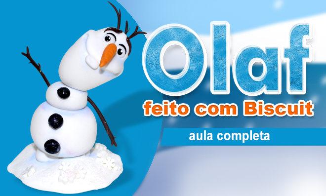 Boneco de neve em biscuit - Personagem Olaf