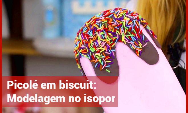 Como fazer picolé em biscuit – Modelagem no isopor