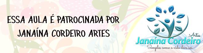 Orquídea Miltonia em EVA feita com stencil - Banner de patrocínio