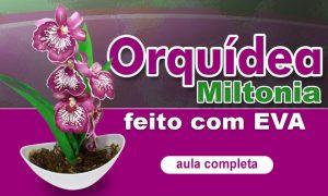 Orquídea Miltonia em EVA feita com stencil - Destaque