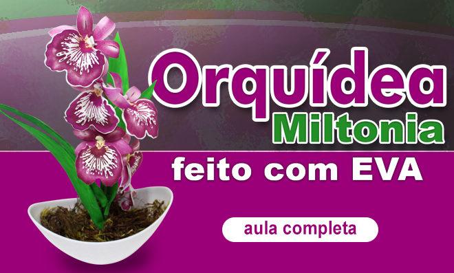 Orquídea Miltonia em EVA feita com stencil