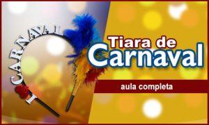 Tiara de carnaval usando EVA com glitter e fita de cetim - Destaque
