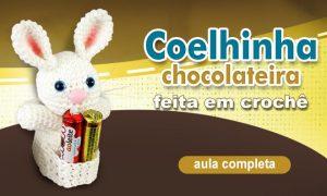 Coelha amigurumi para lembrancinha de páscoa