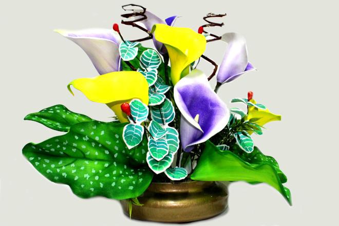 Copo-de-leite em EVA para ornamentação de ambientes – Modelo Picasso
