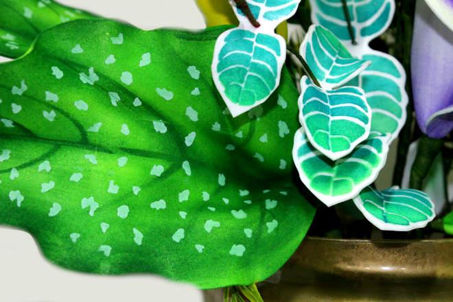 Copo-de-leite em EVA para ornamentação de ambientes - Modelo Picasso - Detalhe 3