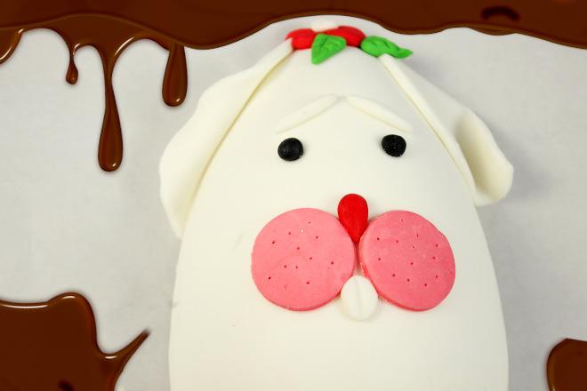 Ovo de páscoa decorado com pasta americana - Ilustração 1