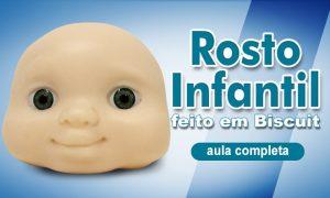 Rosto de biscuit: Modelagem para rostos de bebês e crianças
